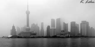 Shanghai Skyline am Morgen